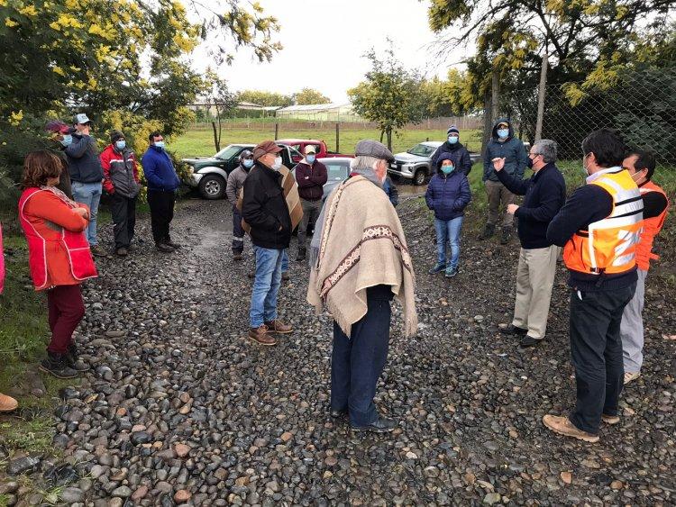 Diputado Rentería compromete gestiones ante el MOP para estudio de prefactibilidad de estructura que permita a vecinos de la comuna de Retiro cruzar río Longaví