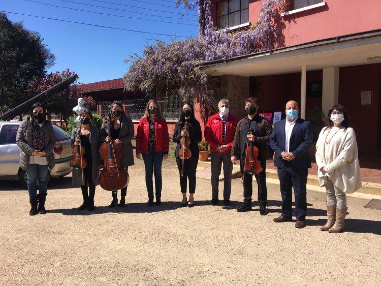 Mineduc, Unesco y FOJI lanzan en el Maule proyecto para crear orquestas en Liceos Bicentenario