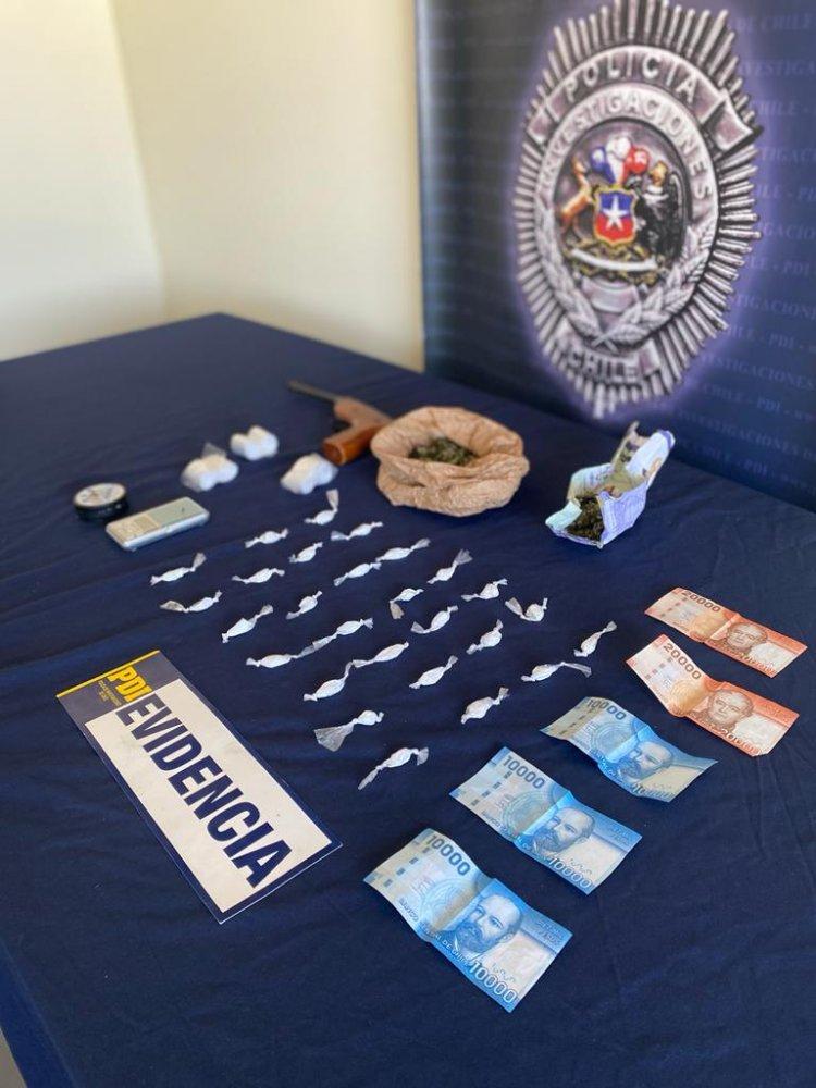 PDI detiene a sujeto por drogas  y agresión a detectives en la comuna de Villa Alegre