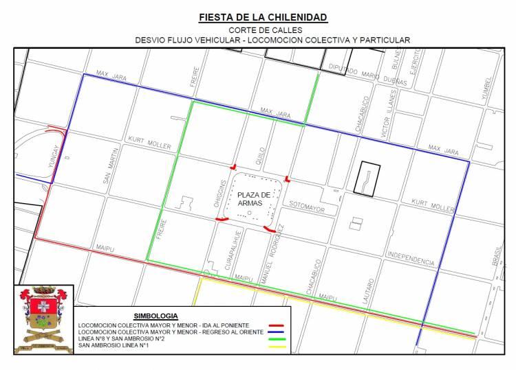 """Estos son los desvíos al tránsito por """"Fiesta de la Chilenidad"""" en Linares"""