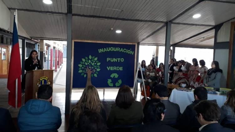 """Inauguran """"punto verde"""" en escuela """"Los Leones"""""""