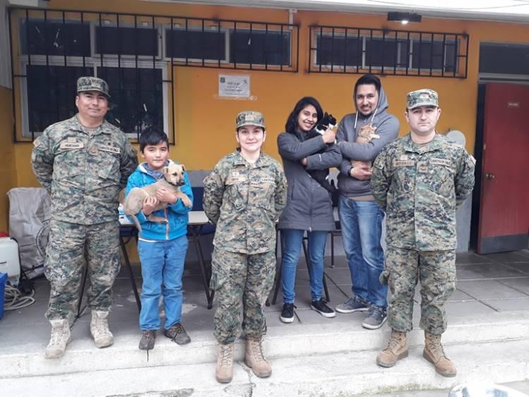 Escuela de Artillería realizó operativo en Maule sur