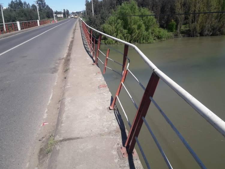Mal estado de barandas en puente Putagán
