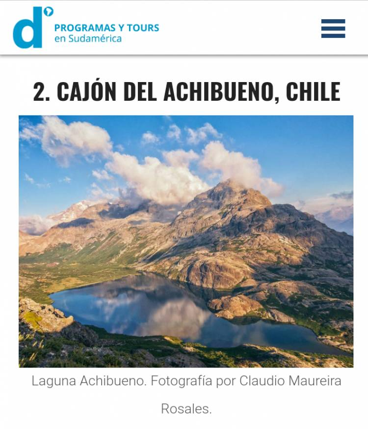 Ubican al Achibueno dentro de los 10 lugares de Latinoamérica que debes conocer en 2019
