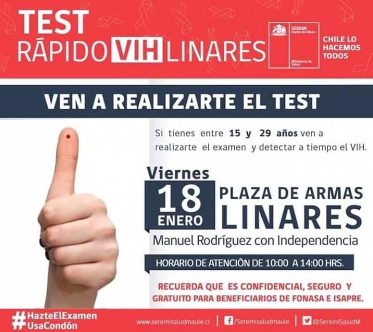 Test rápidos y gratuitos del VIH llegan a Linares