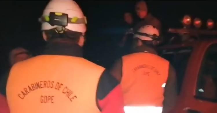 """GOPE encabeza operación """"rastrillo"""" para ubicar a menor desaparecido presuntamente en aguas del río Achibueno"""