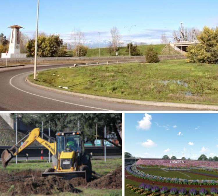 Exclusivo: Los detalles del millonario y polémico proyecto para hermosear el trébol de acceso a Linares