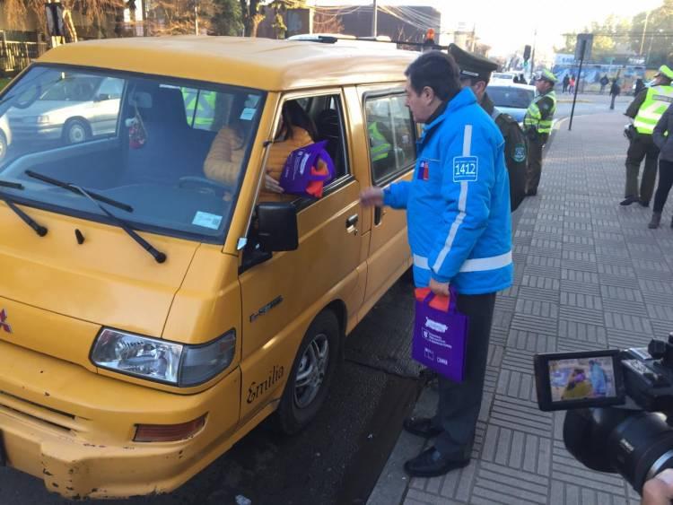 Narcotest: ningún chofer de furgón escolar fiscalizado en Linares arrojó consumo de drogas