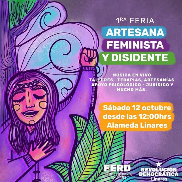 """Con arte y cultura parte """"Primera Feria Artesana, Feminista y Disidente"""""""