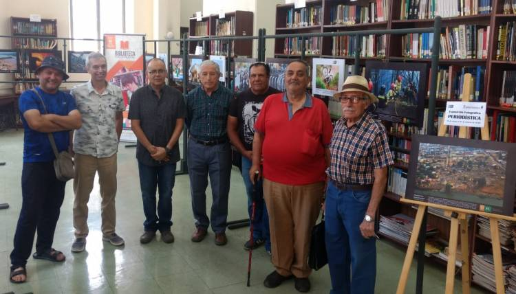 Biblioteca inaugura exposición fotográfica periodística
