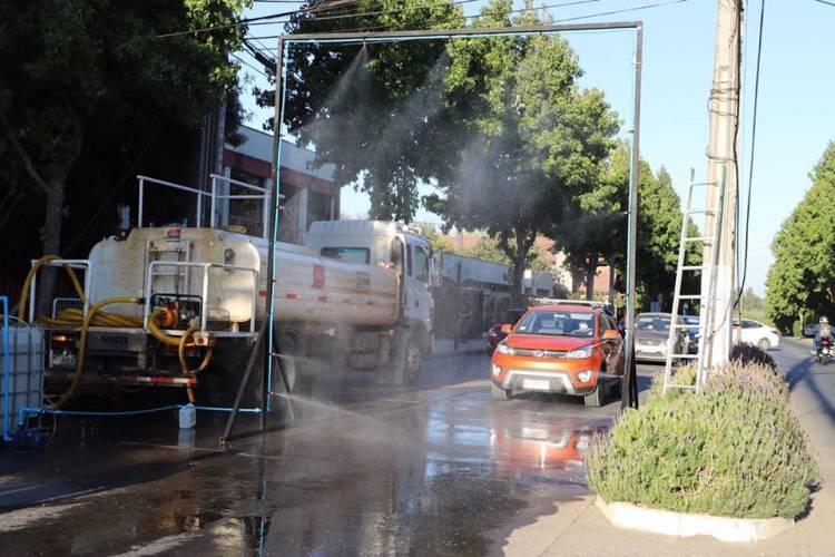 Municipalidad de Parral intensifica prácticas sanitizadoras en la comuna