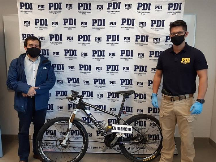 PDI recupera bicicleta robada hace tres años