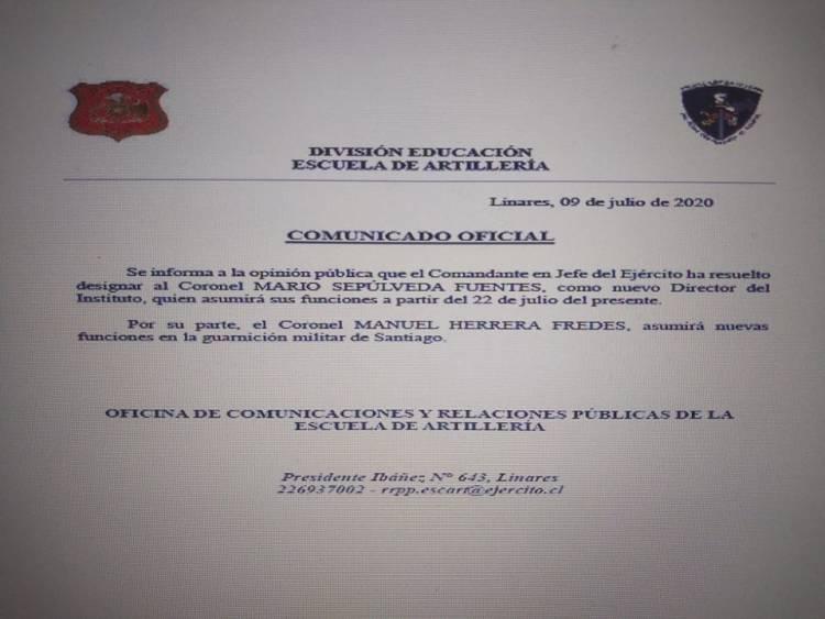 #Exclusivo: Ejército traslada a director de la Escuela de Artillería tras denuncia de oficiales por mal uso de recursos logísticos