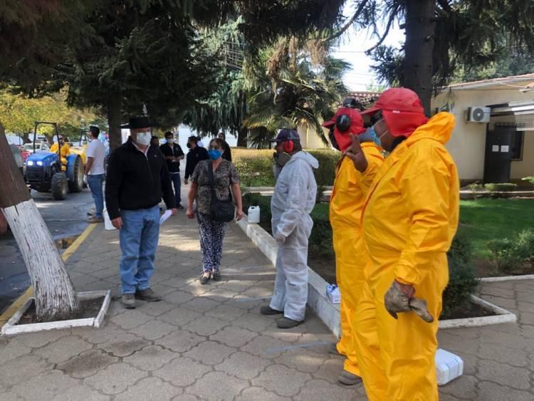 En Longaví se refuerza las medidas de prevención en días de confinamiento absoluto en el área urbana