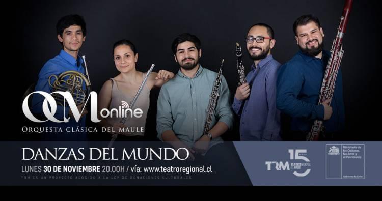 """Danzas del Mundo en Sesiones del """"Teatro Regional del Maule"""""""