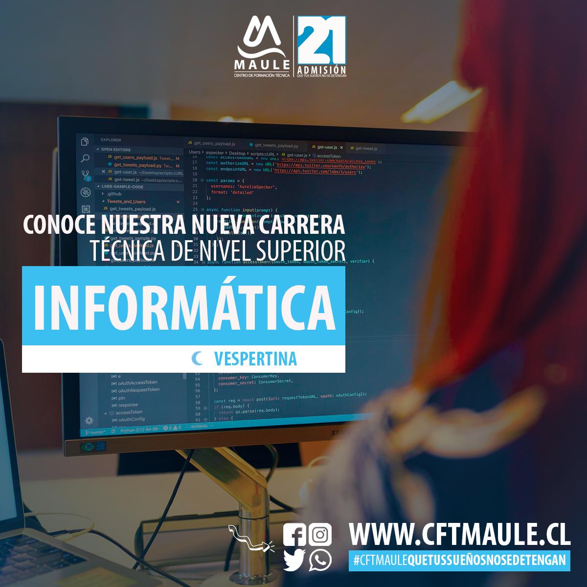 """CFT Estatal del Maule potencia área tecnológica con nueva carrera """"TNS en Informática"""""""