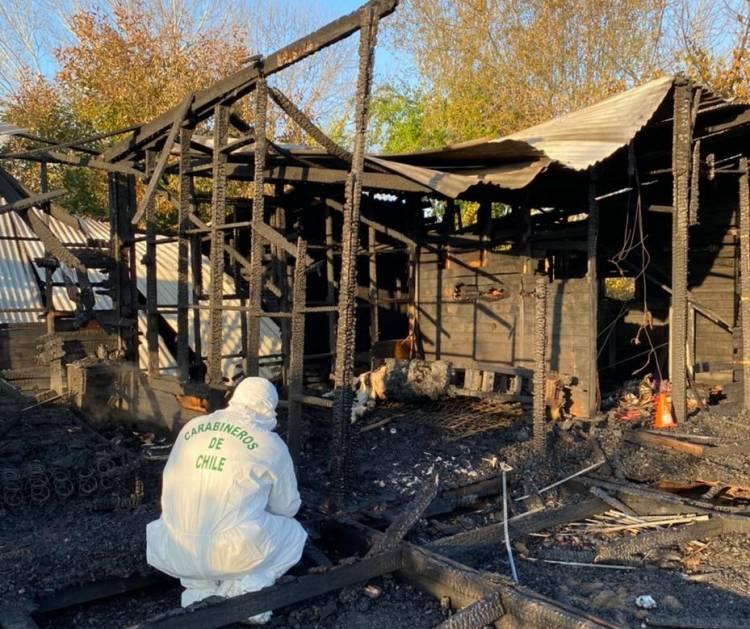 Longaví: Mujer de 45 años muere calcinada tras incendio en localidad de Cerrillos